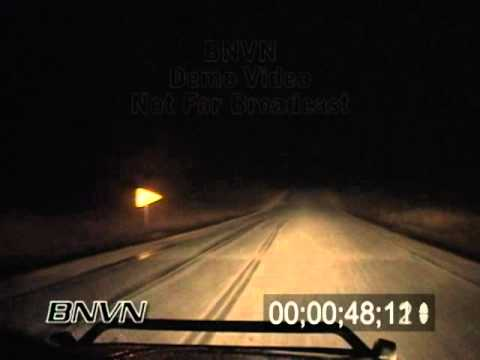 4/5/2005 Hail Storm Stock Video At Night.