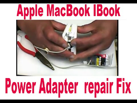 DIY Apple Portable Power Adapter MacBook IBook Charger repair Fix