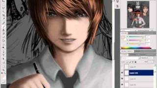 death note fan art drawing video