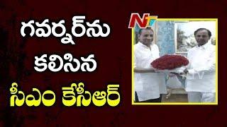 CM KCR Met Governor Narasimhan at Raj Bhavan- Hyderabad - NTV - netivaarthalu.com