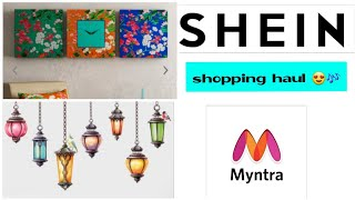 Myntra Haul ! Shein Haul ! Home Decor shopping haul 🤩