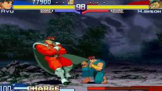 Street Fighter Alpha 3 - Ryu vs Shin M.Bison
