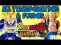 Dragon Ball Z Ultimate Tenkaichi - All Transformations And Fusions 【HD】