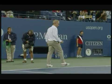 Novak Djokovic and John McEnroe having a hit Video
