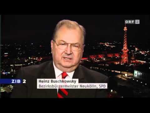 Buschkowsky im ORF2 zu Sarrazins Buch