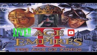 🔴 LIVE -  AGE OF EMPIRES - WIZZY WILL DOMINATE! CUSTOM SCENARIO - RETRO NIGHT!!