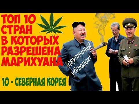 Топ 10 стран в которых разрешена марихуана