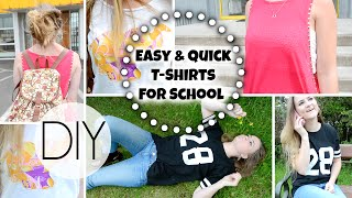 Back To School: ☼  Easy & Quick DIY T Shirts ☼