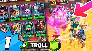 ¡¡NIVEL 1 CON TODAS LEGENDARIAS ARRASANDO EN ARENA 2!!  MAZO INVENCIBLE DE CLASH ROYALE