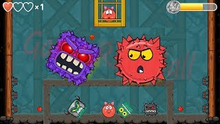BILBERRY BOSS VS RED BOSS BALL VOLUME 5 in Red Ball 4 EPISODE 5 PERFECT 'INTO THE CAVE' Game For Kid