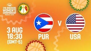 Пуэрто-Рико до 18 (Ж) : США до 18 (Ж)