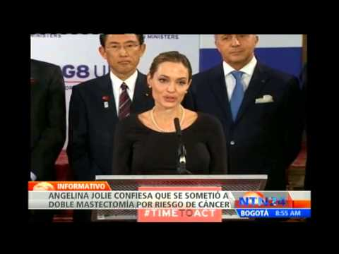 Angelina Jolie revela que se someti a doble mastectoma para reducir su riesgo de padecer cncer