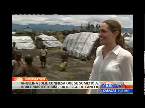 Angelina Jolie revela que se sometió a doble mastectomía para reducir su riesgo de padecer cáncer