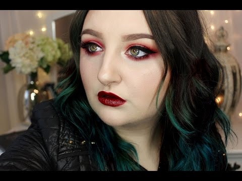 Christmas Makeup Tutorial | Red, Shimmering & Sexy | Rawbeautykristi video
