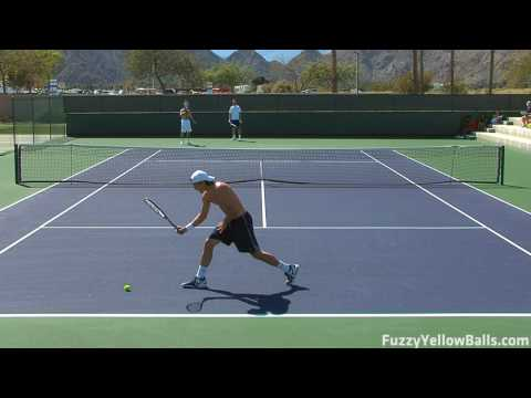 Tommy Haas hitting in High Definition Video