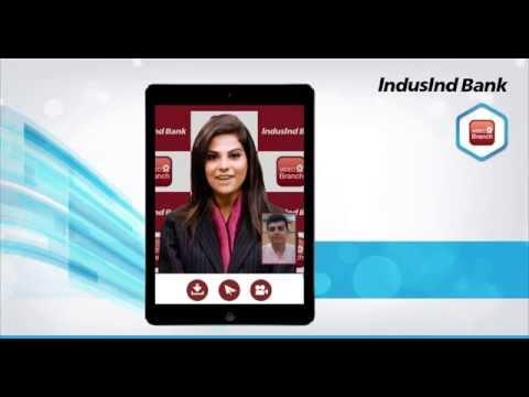 IndusInd Bank Video Branch | Demo of Vidyo-Enabled Online Banking