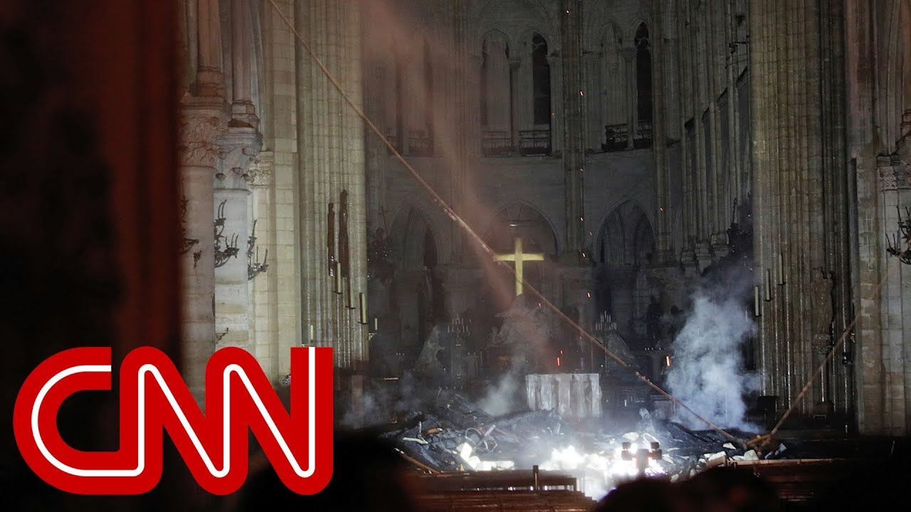 See first images inside Notre Dame Cathedral after fire