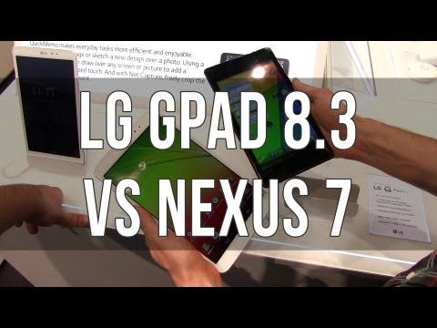 LG GPad 8.3 vs Google Nexus 7 2013 comparison