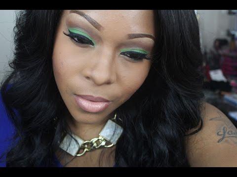 Makeup Tutorial: Green Eyeshadow Tutorial & Mac Nude Lipstick