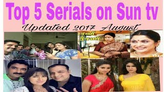 Top 5 Tamil Sun TV SerialsHighest TRP ratings