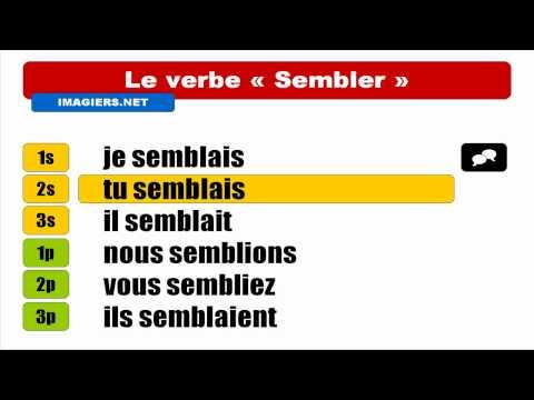 Узнать французский = Sembler = Indicatif Imparfait