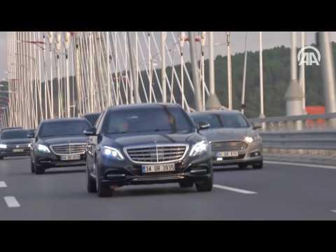 Cumhurbaşkanı Erdoğan Yavuz Sultan Selim Köprüsü'nden geçti
