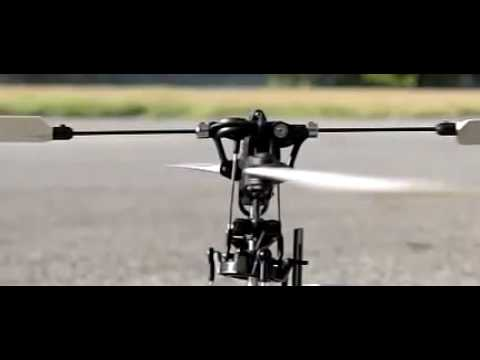 Bell Hiller Helicopter linkage demonstration slow motion