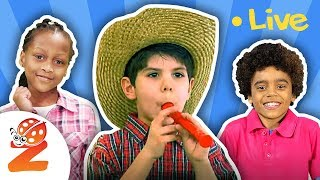 Kids Singing Nursery Rhymes & Baby Songs  🐑🚌🐶LIVE Stream by #ZouzouniaTV