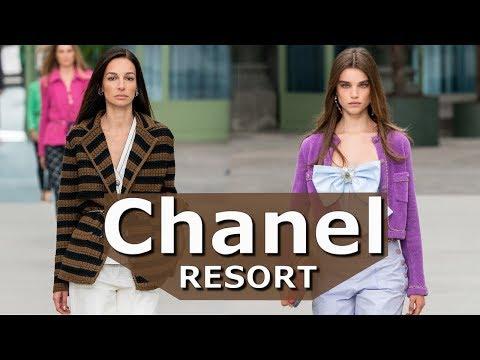 Chanel модный круиз 2020 / Мода в Париже -Девушка в поезде-