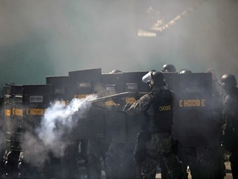 Police, Protesters Clash Before World Cup Opener