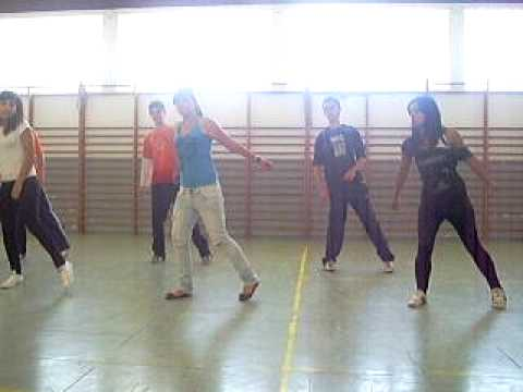 coreografia de aerobic grupal