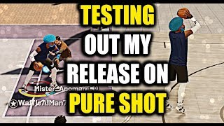 TESTING OUT JUMPSHOT 25 FOR THE LAST TIME ON MY PURE SHOT CREATOR- NBA 2K19