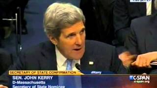 Rand Paul Grilling John Kerry at his Confirmation - 1/24/13