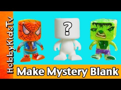 Roseart Blank Blank Mystery Surprise Spider-man Hulk Collection Hobbykidstv video