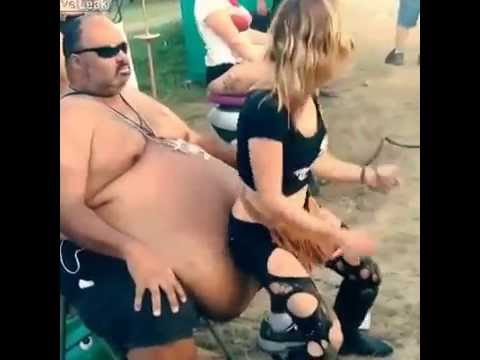 Big Guys Need Love Too......See Big  Girl Grinding On Belly Of Fat Dude