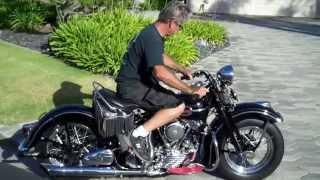 1941 Harley Davidson EL Knucklehead, Cold Start