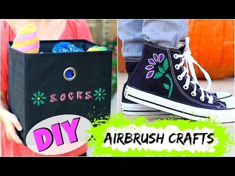 DIY Airbrush Crafts | Twins Brooklyn & Bailey