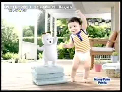 Mamy Poko Pant)  Baby Dancing With Cartoon (25s) (11h40mn) video