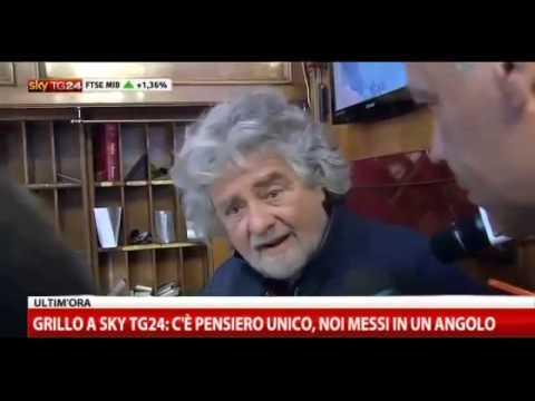 Roma, Grillo show coi giornalisti Sky tg24)