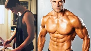 Transformation from Skinny to Buff Dude