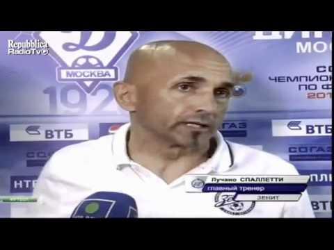 Luciano Spalletti infuriato perchè l'arbitro prolunga l'incontro dello Zenit.