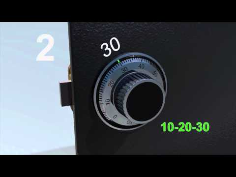 LA GARD Mechanical Lock: 3-Wheel - How to Change the Set Combination