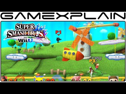 Smash Bros Wii U: Yoshi's Woolly World Stage (1080p Direct Feed Gameplay)