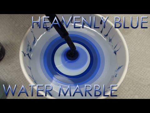 Heavenly Blue Water Marble   DIY Nail Art Tutorial   Addicted to Color Series