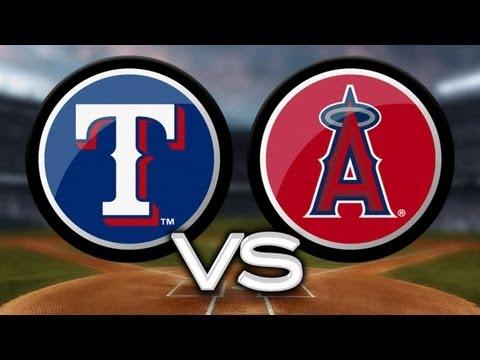 4/23/13: Halos walk off to snap Rangers' streak