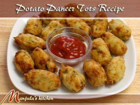Potato Paneer Tots Recipe by Manjula, Indian Snacks