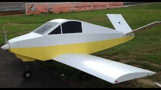 "100"" Giant Foam Rc Davis DA-2 scatch built ""Maiden Flight"""