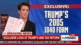 Rachel Maddow Releases Trump's Tax Returns in Biggest Over-Hyped Live TV Epic Fail in History