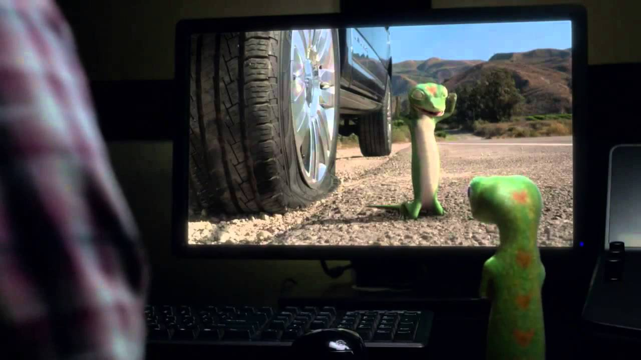 Geico Sign In >> The GEICO Gecko Has a Flat Tire - with Andy Ben directed by Roman Coppola - YouTube