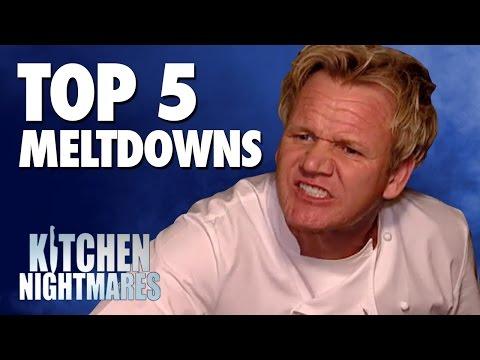 GORDON RAMSAY'S TOP 5 MELTDOWNS! - Kitchen Nightmares